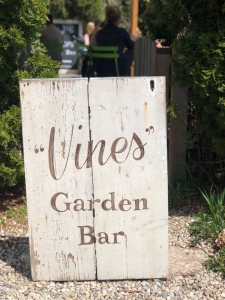 the brown Jug Vines garden bar